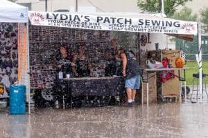 Lydias Patch Sewing Rain